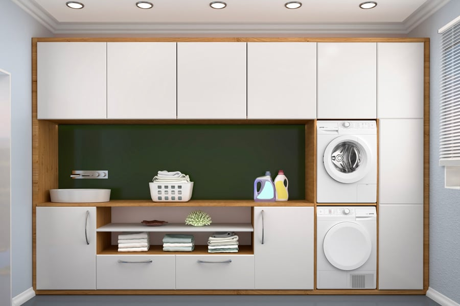 Des dimensions qui permettent d'encastrer le sèche-linge dans une cuisine